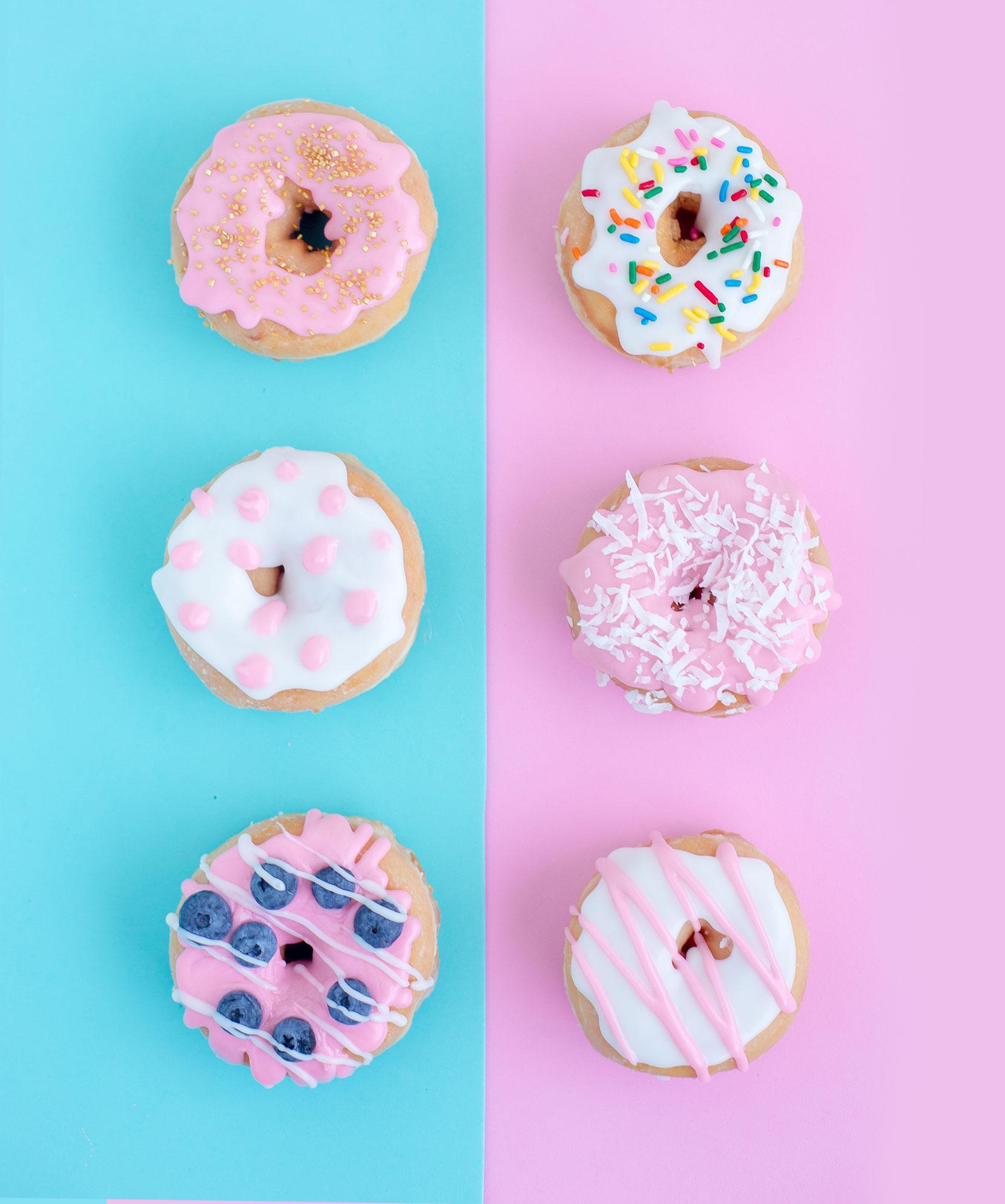 Colors in doughnuts